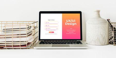 Szablon projektu Design Courses ad on screen Image
