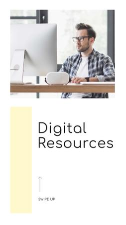 Plantilla de diseño de Digital Resources Ad with Programmer Instagram Story