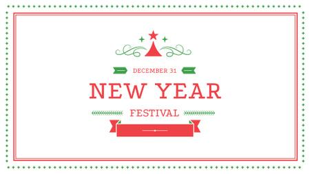 Plantilla de diseño de New Year Festival Announcement FB event cover