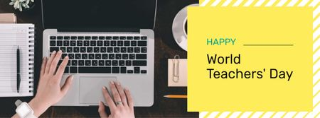 World Teacher's Day Announcement Facebook coverデザインテンプレート
