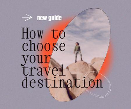Travel inspiration with Man on Rock Large Rectangle – шаблон для дизайну
