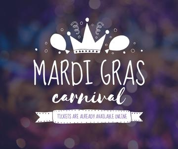 Mardi Gras carnival crown