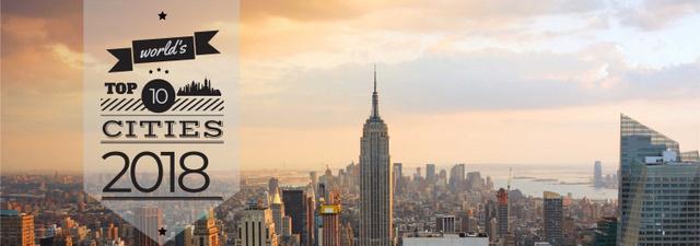 Plantilla de diseño de View of New York City Tumblr
