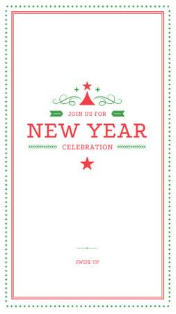 Plantilla de diseño de New Year Celebration Announcement Instagram Story