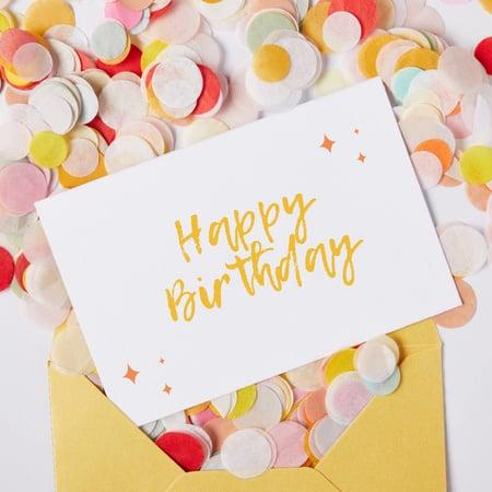Plantilla de diseño de Happy Birthday greeting with Confetti Animated Post