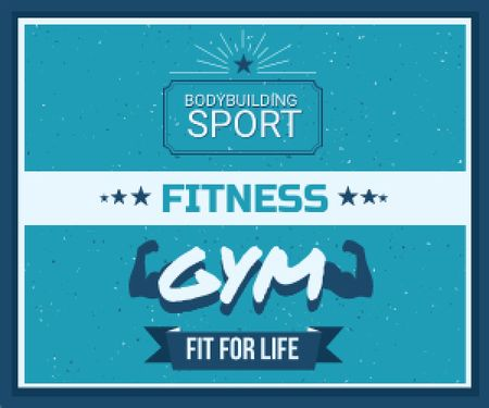 Template di design Fitness gym advertisement Medium Rectangle
