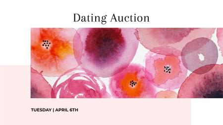 Charity Event Announcement with Abstract Illustration FB event cover Design Template