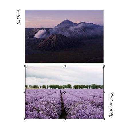 Beautiful Landscape of Mountains and Lavender Field Instagram Modelo de Design