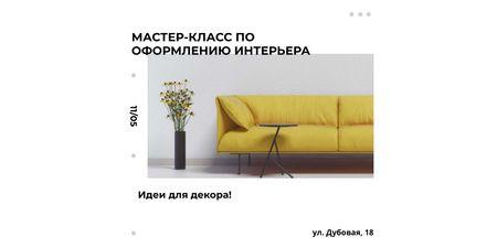 Interior decoration masterclass Twitter – шаблон для дизайна