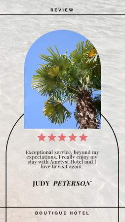 Modèle de visuel Tourist Review with Palm Tree - Instagram Story