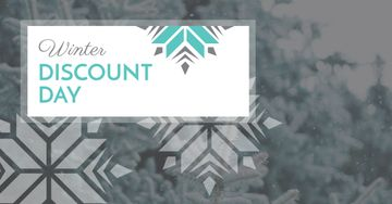 Winter Discount Day Offer with Snowflakes