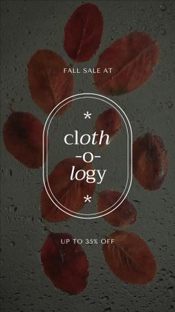 Discount Offer with Autumn Foliage Instagram Video Story Modelo de Design