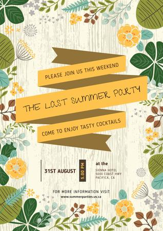 Plantilla de diseño de Last summer party Announcement Poster