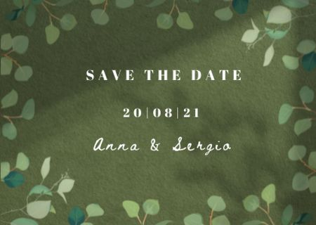 Template di design Wedding Day Announcement in Twigs Frame Card