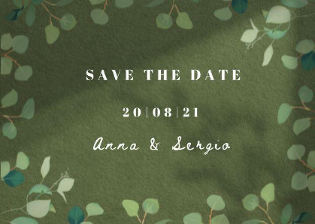 Wedding Day Announcement in Twigs Frame Card – шаблон для дизайна