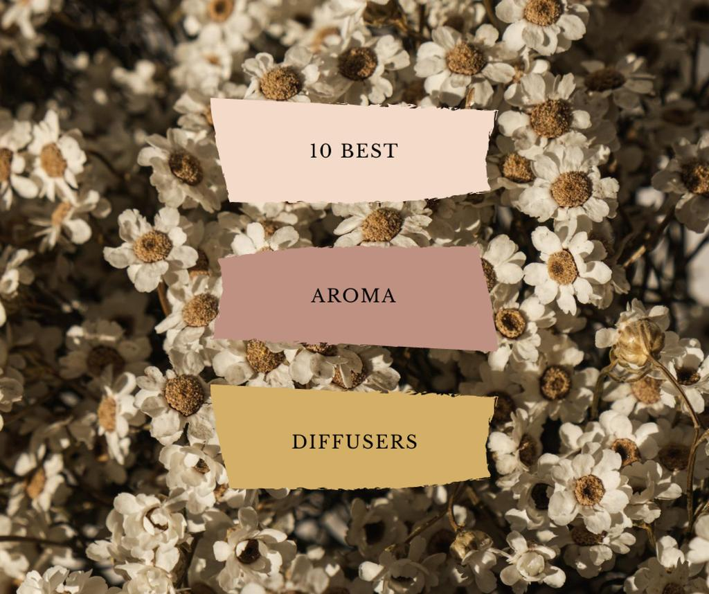 Aroma Diffusers ad on Blooming Flowers —デザインを作成する