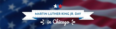 Martin Luther King day Greeting Twitter – шаблон для дизайну