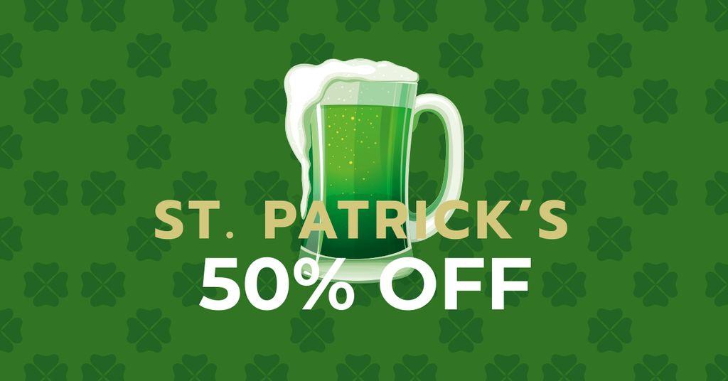 St. Patrick's Day Offer with Beer — Создать дизайн