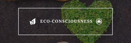 Eco Quote on Heart of Leaves Twitter Modelo de Design