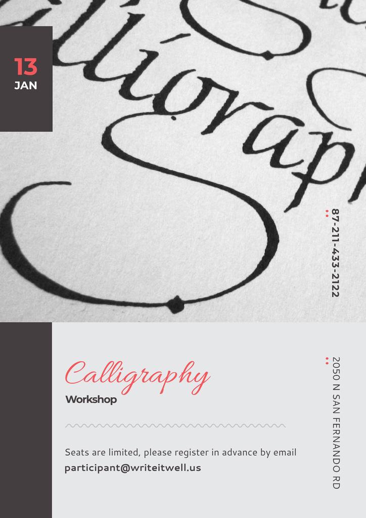 Calligraphy workshop Announcement — Crea un design