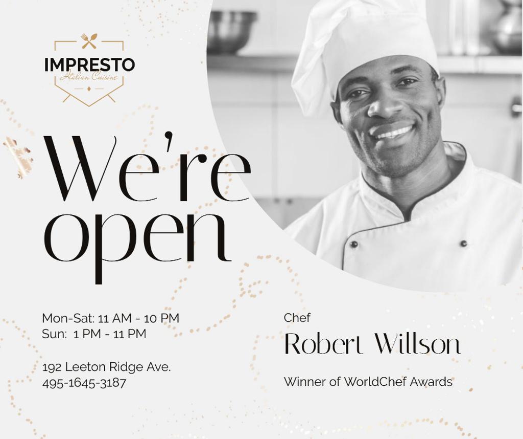 Restaurant Promotion Chef in White Toque — Maak een ontwerp