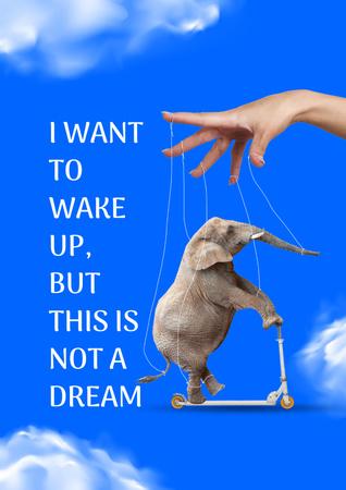 Modèle de visuel Animals Protection Motivation with Circus Elephant - Poster