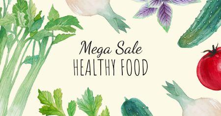 Healthy Eating Diet Fresh Vegetables Facebook AD Modelo de Design
