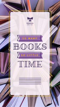 Book Store Promotion Books in Purple