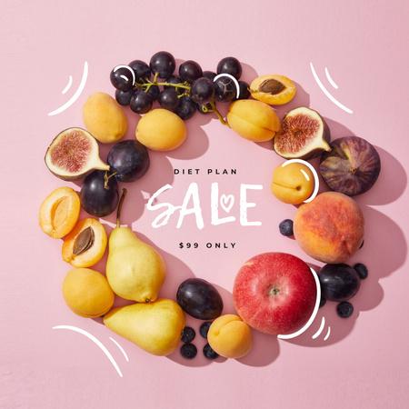 Ontwerpsjabloon van Instagram van Healthy Diet plan offer