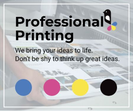 Ontwerpsjabloon van Medium Rectangle van Professional printing poster