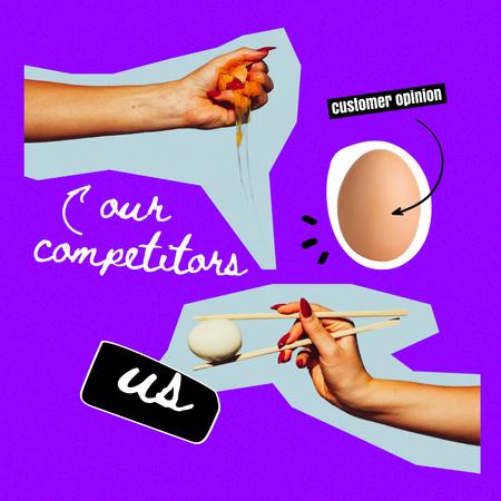 Plantilla de diseño de Joke about Customer Care Instagram