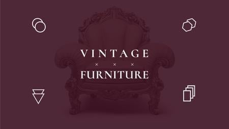 Plantilla de diseño de Antique Furniture Ad with Luxury Armchair Youtube