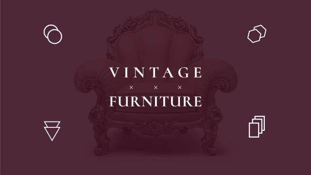 Modèle de visuel Antique Furniture Ad with Luxury Armchair - Youtube