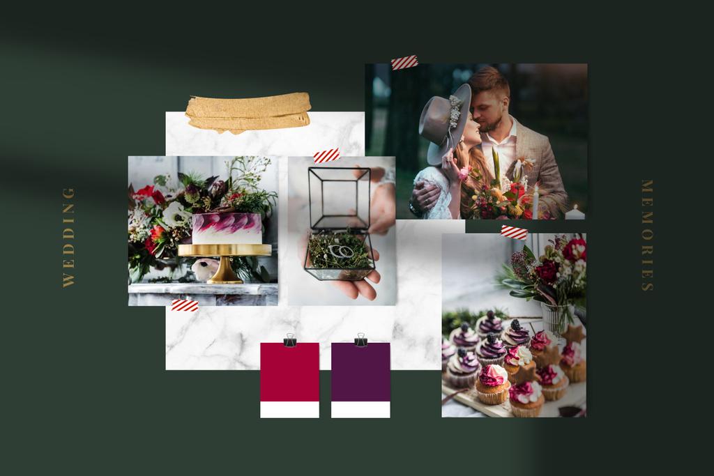 Food and Decor for Wedding day Mood Board – шаблон для дизайну