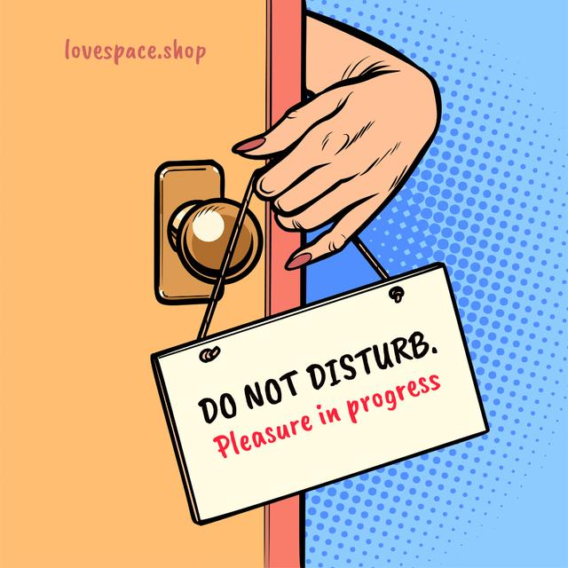 Sex Shop Ad with Do Not Disturb Sign Instagram Design Template