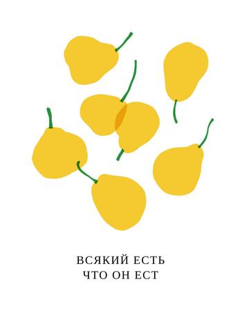 Falling Yellow Pears T-Shirt – шаблон для дизайна