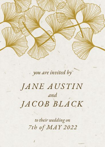 Wedding Day Announcement With Flowers Illustration