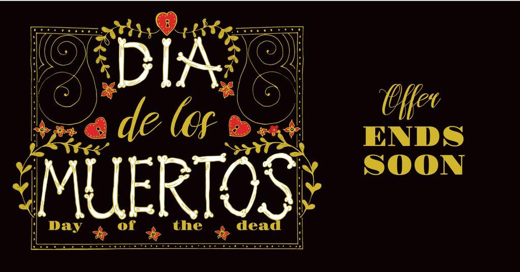 Dia de Los Muertos Bright Offer — Crea un design