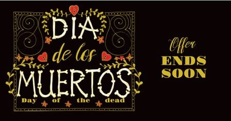 Template di design Dia de Los Muertos Bright Offer Facebook AD