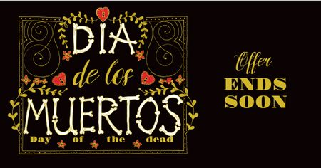 Dia de Los Muertos Bright Offer Facebook AD – шаблон для дизайну