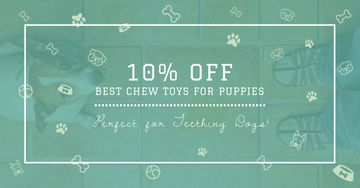 Chew Toys Offer with Cute Puppy