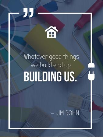 Designvorlage Building Quote Tools for Home Renovation für Poster US
