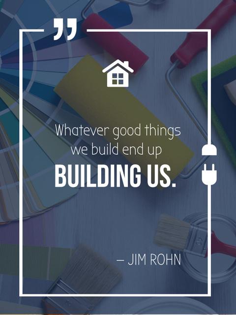 Szablon projektu Building Quote Tools for Home Renovation Poster US