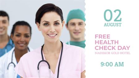 Clinic Promotion with Doctors Team FB event cover – шаблон для дизайна