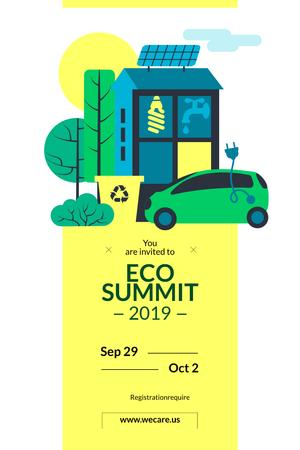 Szablon projektu Invitation to Eco Summit Pinterest