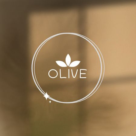 Organic Shop Offer with Olive Leaves Illustration Logo – шаблон для дизайну