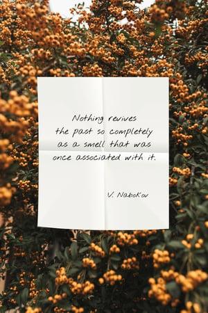 Plantilla de diseño de Quote about Smell on flowers background Pinterest
