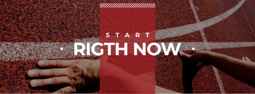 Hands on start line with Motivational Quote — Create a Design