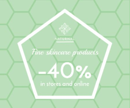 Plantilla de diseño de Skincare products sale advertisement Medium Rectangle