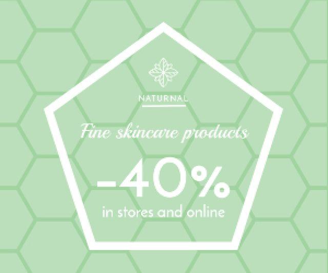 Skincare products sale advertisement Medium Rectangle – шаблон для дизайну